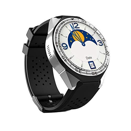 ZYJ GPS-Navigationsuhr, Fitness Tracker Sport Smart Watch Fitness Schrittzähler Armbanduhr 16GB Pulsmesser Smart Watch,Silber