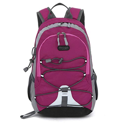 HENDTOR 10L Wasserdichte Schultaschen Für Mädchen Jungen Kinder Outdoor-Sport Wandern Klettern Reisen Laufen Rucksack Rose Madder -