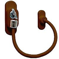 Çelik Halatlı Pvc Kapı Pencere Emniyet Kilidi - Kahverengi Kablolu Pimapen Emniyet Mandalı - ÜCRETSİZ KARGO