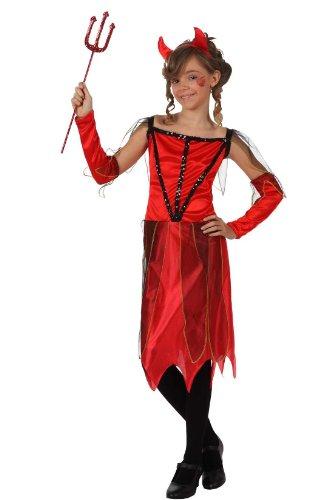 Teufel Mädchen Kleines Kostüm - Generique Teufelinnenkostüm für Mädchen 152/158 (10-12 Jahre)
