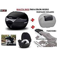 SHAD Kit BAUL Maleta Trasero SH33 litros + FIJACION + Respaldo Pasajero Regalo - Aprilia Sport