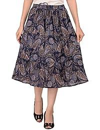 COTTON BREEZE Women's Viscose A-Line Skirt (FP559 _Multicolor_ Free Size)