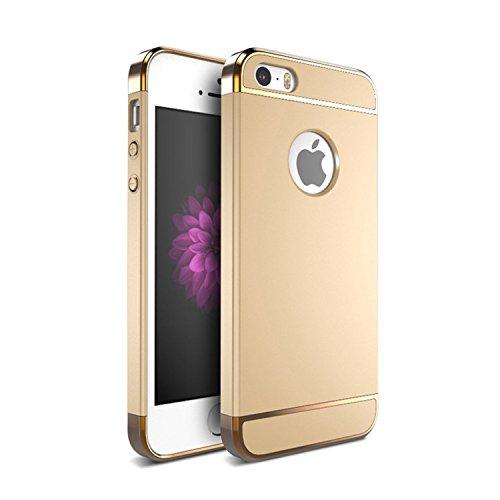 iPhone 5Fall, iPhone 5s Back Cover, matop Ultra Slim Rugged Fit Shock Drop Proof Impact Resist iPhone SE Schutzhülle 3in 1Hard Case für Apple iPhone SE/5S/5, Gold (I Phone Bikini-fall)