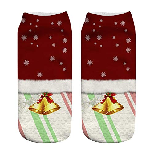 GNYD Damen Herren Unisex Wintersocken Weihnachten Lustige 3D Mode Gedruckt Casual Socken Cute Low Cut Söckchen