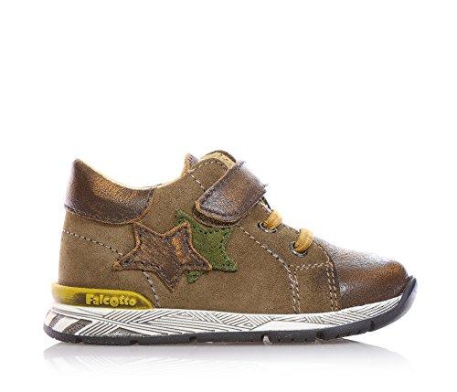 Dunkel Braun Wildleder Kinder Schuhe (Falcotto Brauner Schuh Aus Leder und Wildleder, Ideal Zum Krabbeln und Zum Laufen Lernen, Jungen-21)