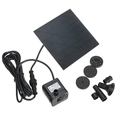 MASUNN 1.2W Solar Panel Power Water Pump Kit For Submersible Fountain Pond