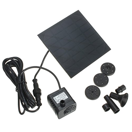 1.2W Solar Panel Power Water Pump Kit Per Submersible Fountain Pond