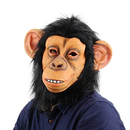 ZQYQ Halloween Maske, Halloween Cosplay Lustige Schimpansen Maske, Tanzparty, Spukhaus (Zombie Schimpansen Kind Kostüm)