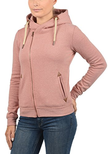 DESIRES Vicky Zip-Hood Damen Sweatjacke Kapuzen-Jacke Zip-Hood aus hochwertiger Baumwollmischung Meliert Powder Rose Mel (5178M)