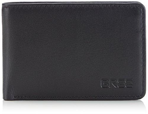 BREE Herren Pocket 102, Black Soft, Wallet Geldbörsen, Schwarz 909, 10x7x2 cm
