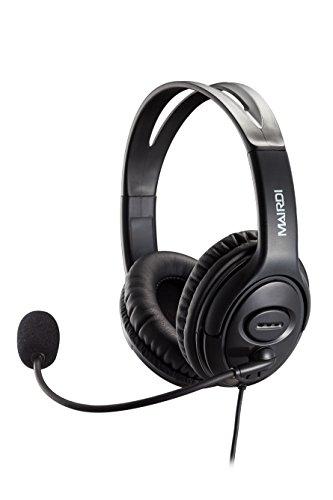 PC USB Headset Kopfhörer Skype Headset Spracherkennung Headset für Dragon Diktat mit Noise Cancelling Mikrofon und Call Button