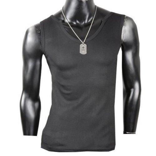 Herren Tanktop Tank top Muskelshirt Fitness T shirt Achselshirt Body Body V Ausschnitt Schwarz