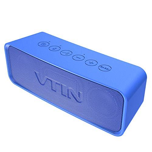 VicTsing VTIN R2 Bluetooth Speaker, Altavoz portátil IPX6 a Prueba de Agua, 14W estéreo HD, 20 Horas de Vida útil, Adecuado para Todas Las Actividades al Aire Libre