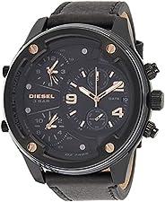 Diesel Mens Quartz Watch, Analog and Leather- DZ7428