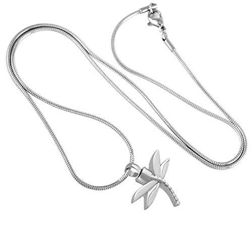 Urn Feuerbestattung Halskette Libelle Form Pet Ash Medaillon Sarg Andenken für Haustier Edelstahl Urnen ()