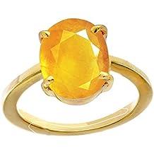 Stonefound™ 5.25 Ratti Pukhraj Guru Graha Rashi Ratan Panchdhatu Ring Certified Natural Yellow Sapphire Gemstone Astrological Purpose for Men Women