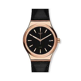 Swatch Reloj Analógico para Hombre de Automático con Correa en Cuero YIG400