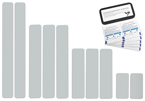 10 Stück selbstklebende Planen Reparatur Tapes Pflaster, Easy Patch Comfort 50mm Breite, Lichtgrau...