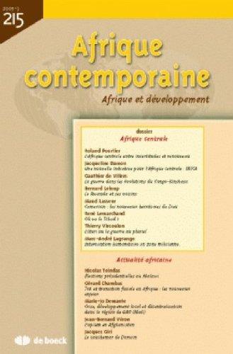 Afrique Contemporaine 20053 - N.215 Afrique Centrale