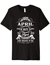 Legends Were Born In April 1977 shirt 42nd Birthday Gift