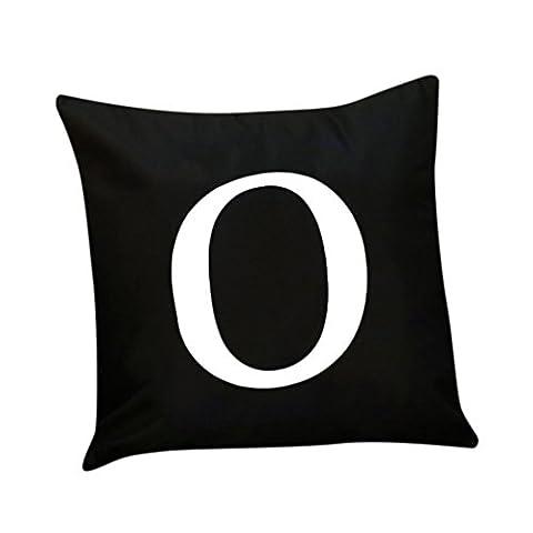 Kissenbezug Vovotrade Flashing Alphabet Beleuchtung LED Kissenbezug Home Decor Sofa Throw Kissenbezug (Solid Gold Taschenuhr)