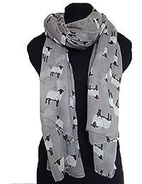 Grey sheep design long Scarf, Soft Ladies Fashion London