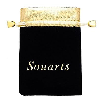 Souarts-Quarz-Armbanduhr-mit-Kunstlederarmband-Strass-Anhnger-rundes-Zifferblatt