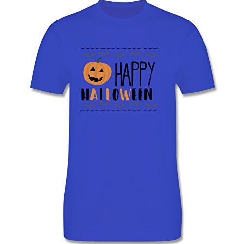 Halloween - Happy Halloween - Herren Premium T-Shirt Royalblau