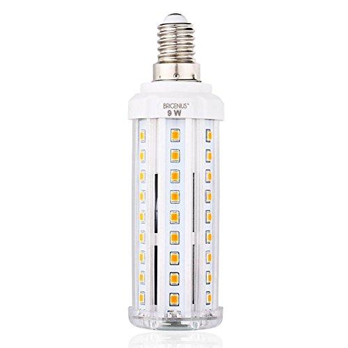LED E14 Fassung Mais Birne BRIGENIUS Beleuchtung 3000K Leuchtmittel Corn Light Ersatz 70W Warmweiß Energiesparlampe 9W für Wandlampen Tischlampen Deckenlampen Hängendes Licht [Energieklasse A+] [Energieklasse A+] - Milchglas Led Birne