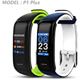 YO+ P1 Plus HD Color Display Blood Pressure And Heart Rate Smart Bracelet (BLACK Colour)