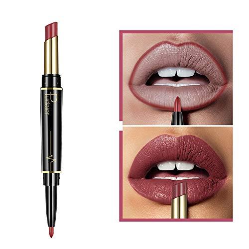 AchidistviQ Doppelt beendet lang anhaltender Lipliner Bleistift wasserdichter Matte Lippenstift Feuchtigkeitscreme 6#