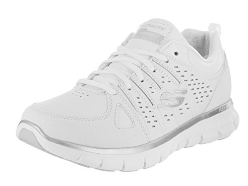 Skechers Womens Synergy Lady Luck Sneaker White/Silver
