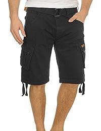 INDICODE Hampton Herren Cargo Shorts Bermuda Shorts kurze Hose mit Gürtel