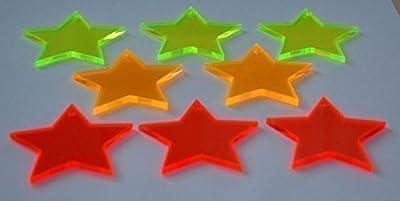 50er Set Sonnenfänger/Suncatcher Sternchen Ø 5 cm LISA zum Aufhängen von Schmalz Werbeservice auf Du und dein Garten