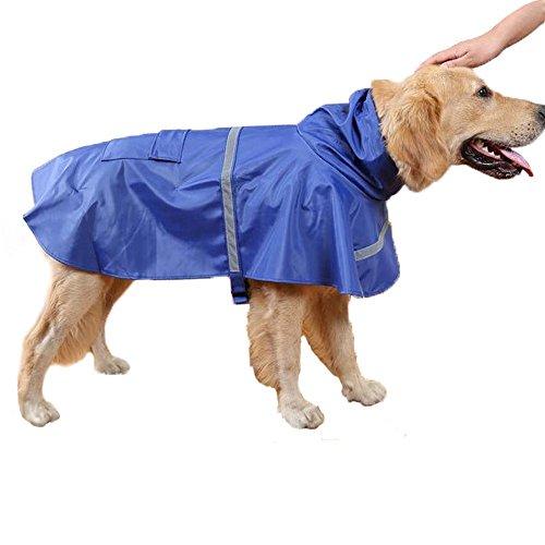 Haustier Hund Regenmantel Regenjacke Leicht Wasserdicht Kleider Mit Leinenhaken Atmungsaktiv Katze Regen Jacke Kapuzenponcho Verstellbar Mit Reflektierendem Streifen ( XXL )2 Stücke