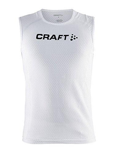 Home Herren Ärmellos (Craft Herren ärmelloses Shirt Stay Cool Mesh Superlight Scampolo White, L)