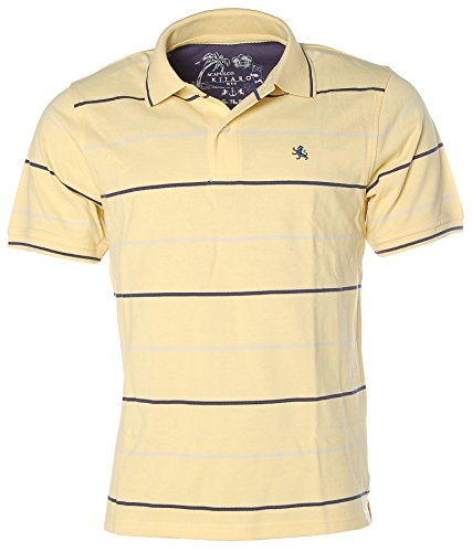 Kitaro Herren Poloshirt Polo Shirt -Acapulco Beach- Gelb