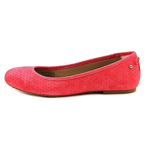 Ugg Australia Karlina Geo Daim Chaussure Plate Sunset Red