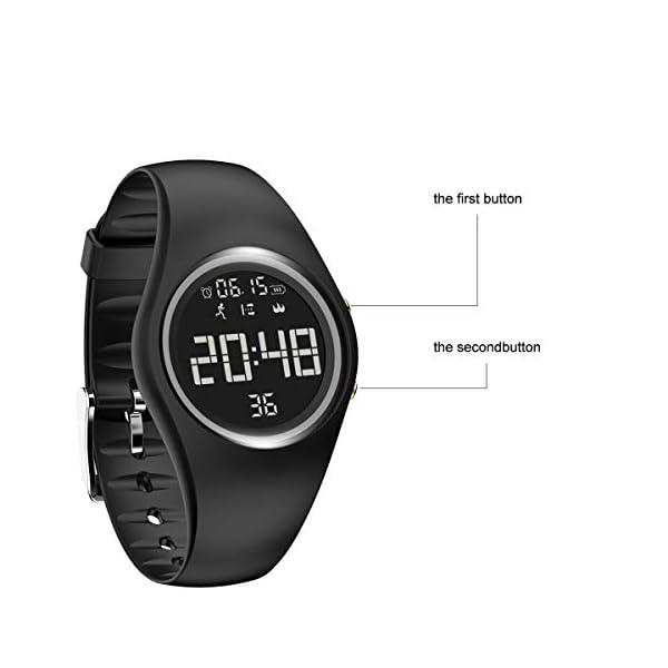RCruning-EU Pulsera Actividad Impermeable IP68 Fitness Smartwatch Tracker Contador de Pasos, Contador de Calorías… 3
