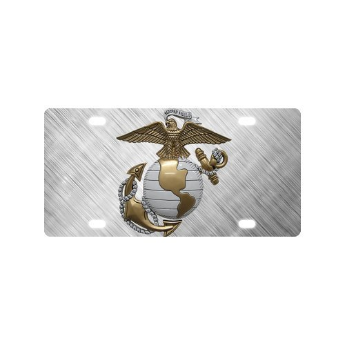 New Arrival. USMC United States Marine Corps Robust und langlebig Aluminium Auto Nummernschild 30,5x 15,2cm - United License Plate Frame