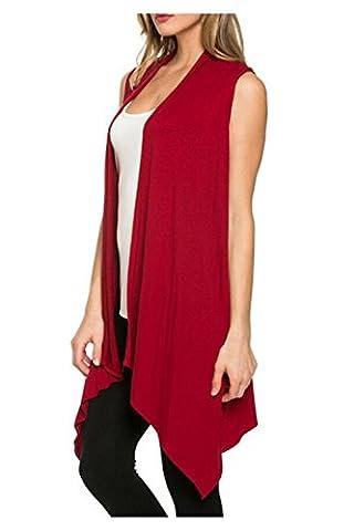 Aumir Women's Summer Casual Lightweight Vest Sleeveless Outwear Open Cardigan