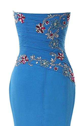 Promworld Damen Schatz Wulstige Meerjungfrau Abendkleid Ballkleid Burgundy