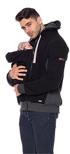 Milchshake Sweat-Tragejacke für Männer mit Rücken- und Bauchtragefunktion Companion - schwarz - L