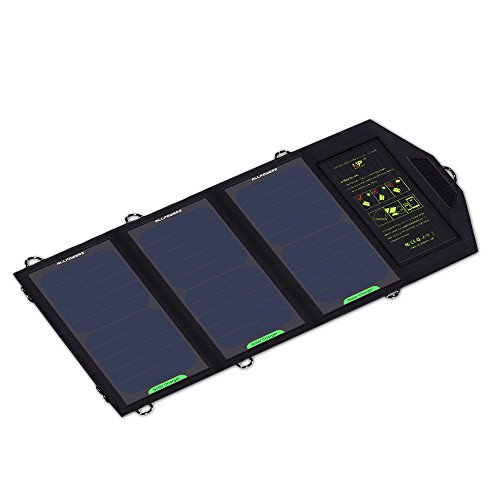 """ALLPOWERSâ""""¢ 12W Portable Foldable Solar Charger Panel with Fast Charging Technology Power Pack Portable Charger Backup for iPhone 6 5s 5c 5 4s 4, Samsung Galaxy S5 S4 S3, Blackberry, OPPO, LG, PDA, GPS Units, Digital Camera, Video Camera, PSP Video Games, Bluetooth Headset, IPOD Digital Products & All Other USB Compatible Devices"""