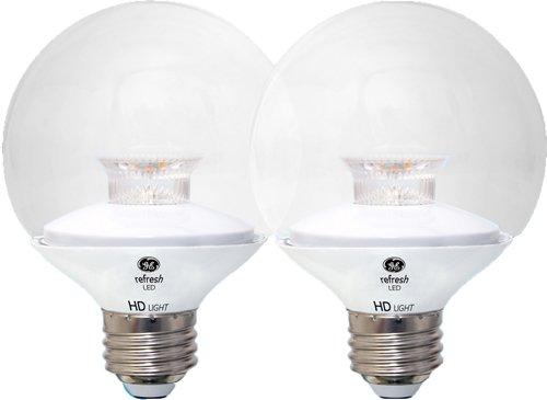 GE LIGHTING 92240LED Refresh HD 5.5(Ersatz), Gluehbirne 500-lumen G25Glühlampe mit Medium Base, Tageslicht, 2er Pack (G25-lampen)
