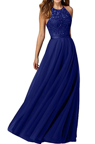 Promgirl House Robe du soir Robe de cocktail Robe de bal séduisante Noir Broderie Bretelles en A Bleu - Bleu royal