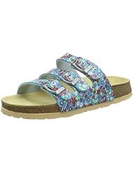 Superfit FUSSBETTPANTOFFEL 700113, Mädchen Pantoffeln, Blau (NIAGARA 93)