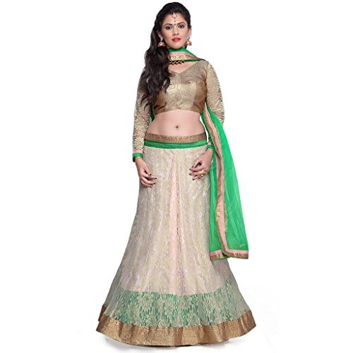 Janasya-Womens-Net-Lehenga-Cholis-JNE0769Green