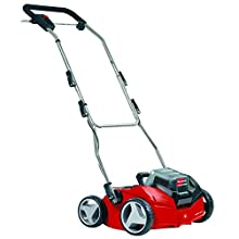 Einhell GE-SC 35 Li Solo Power X-Change 36 V Cordless Lithium-Ion Scarifier and Lawn Aerator (2 x 18 V, Working Width 350 mm, Wheel Diameter Front/Rear 175/152 mm, Without Battery and Charger) - Red