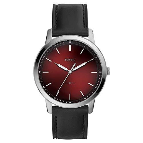Fossil The Minimalist DREI-Zeiger schwarz Leder Herren-Armbanduhr FS5493